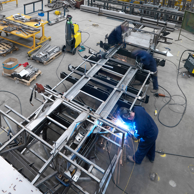 Steel Framed Factories : Bus frame manufacturing sherburn metalwork